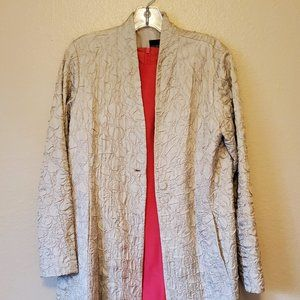 Eileen Fisher silk coat